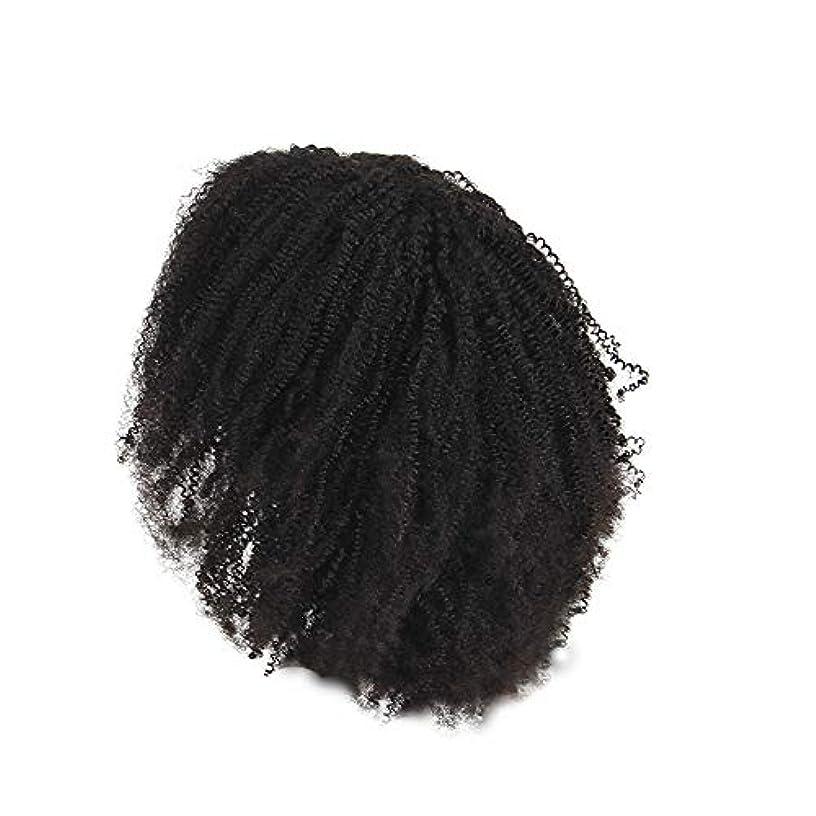 決めます振り返るボルトかつらレース化学繊維爆発ヘッド小体積短い髪かつらの前に