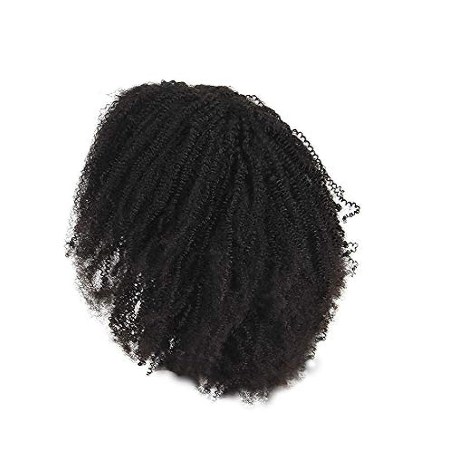 によって高さ腰かつらレース化学繊維爆発ヘッド小体積短い髪かつらの前に