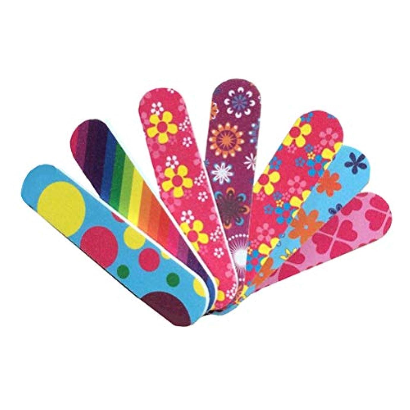 効果的偽善気晴らしFrcolor 爪やすり ミニ 爪磨き 両面タイプ ネイルシャイナー お手入れ ネイルケア マニキュア ネイルファイル 50本セット(ランダム色)