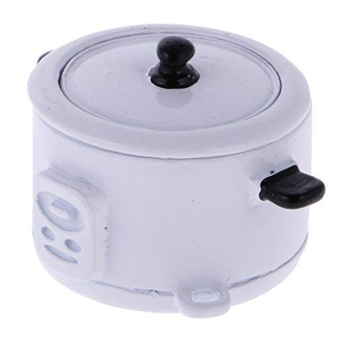 Lovoski 1:12ドールハウス 小型 炊飯器  米スプーン付き ミニ 電気炊飯器 玩具 贈り物...