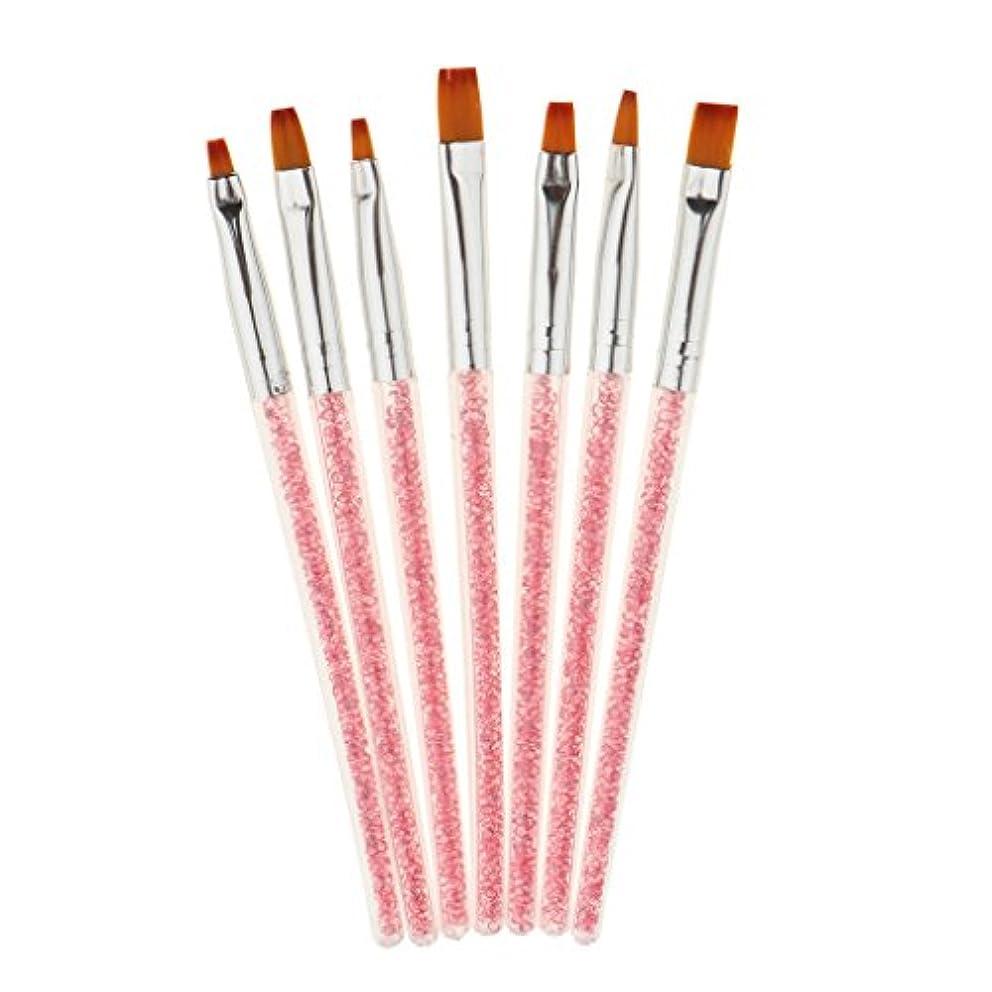 ネコ繊維言うまでもなく7ピース/個 Uvゲルネイルアート塗装ドットペンのブラシマニキュアDIYツールキットセット