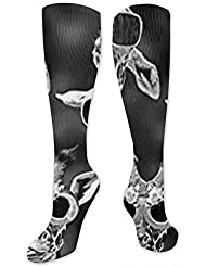靴下,ストッキング,野生のジョーカー,実際,秋の本質,冬必須,サマーウェア&RBXAA Personalized Giraffe Socks Women's Winter Cotton Long Tube Socks Cotton...