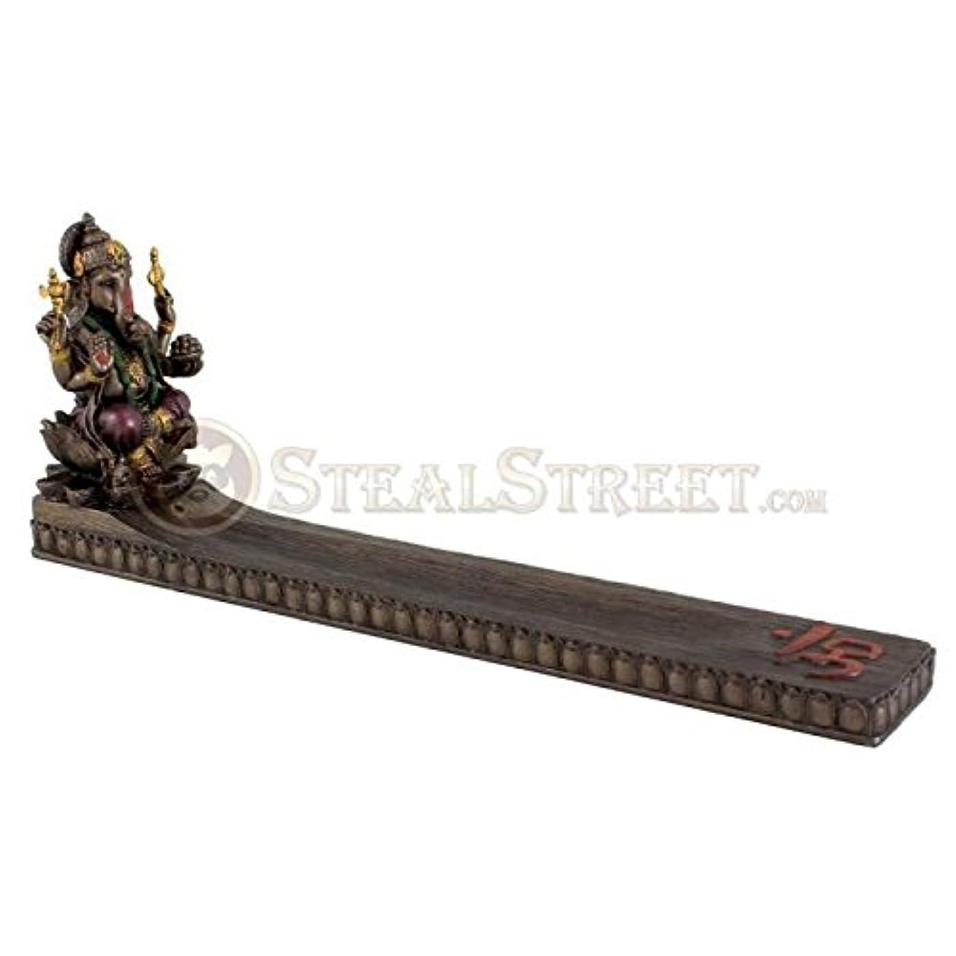 動くマウンド締めるHindu God Ganesha Incense Holder Incense Burner Ganesh