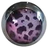 キャプティブビーズリング用 ボディピアスパーツ レパードクリップインボール サイズ 6mm (ボール)6mm カラー オレンジ CBR BCR クローザーリング アニマル ヒョウ柄