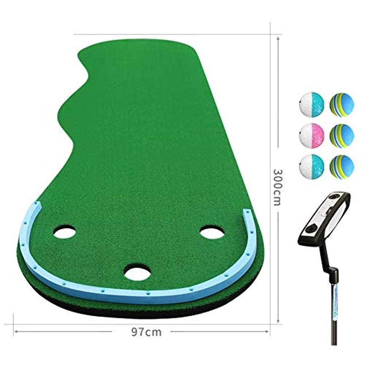ジュラシックパークプレゼンテーション不良WENZHE ゴルフマット パターマット 練習器具 ネット ウェーブデザイン ポータブル 家族 オフィス エクササイズブランケット 芝生、 2のスタイル オプション