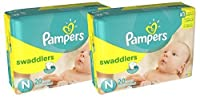 Pampers Swaddlers Diapers Size N 2 (Total of 40 Pampers) by Pampers