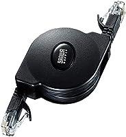 サンワサプライ 自動巻取りCAT6A LANケーブル KB-MK19BK