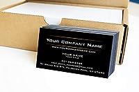 シンプルプレミアムビジネスカード 500フルカラー 2つのサニーラインデザイン ブラックフロント ホワイトバック 129ポンド 350gsm-厚紙