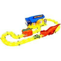 repair centre exciting race track - train on the tracks to become a expert racing driver with the sleek car vehicle - exciting gift for kids