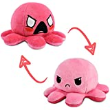 TeeTurtle | The Original Reversible Octopus Plushie | Patented Design | Angry and Furious | Show Your Mood Without Saying a W