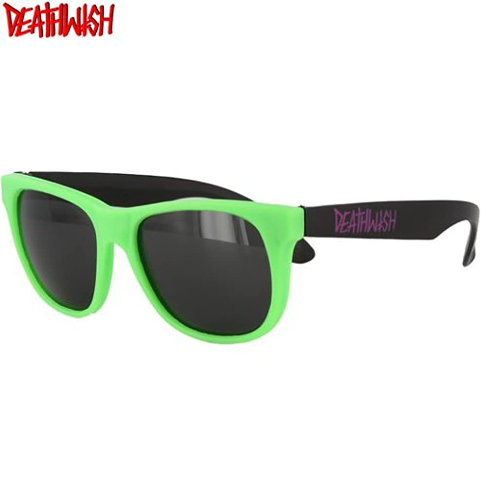 に頼る棚偉業デスウィッシュ DEATHWISH スケボー サングラス Mandozas Green Purpleグリーン x ブラック NO02