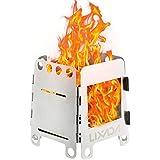 Lixada バーベキューコンロ・焚火台 ステンレス製 チタン製 折りたたみ ウッドストーブ 三種スタイル全