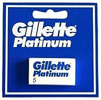 Gillette Platinum [プレミアムホワイトボックス版!] ジレット プラチナ 両刃替刃 100個入り (5*20) [海外直送品] [並行輸入品]