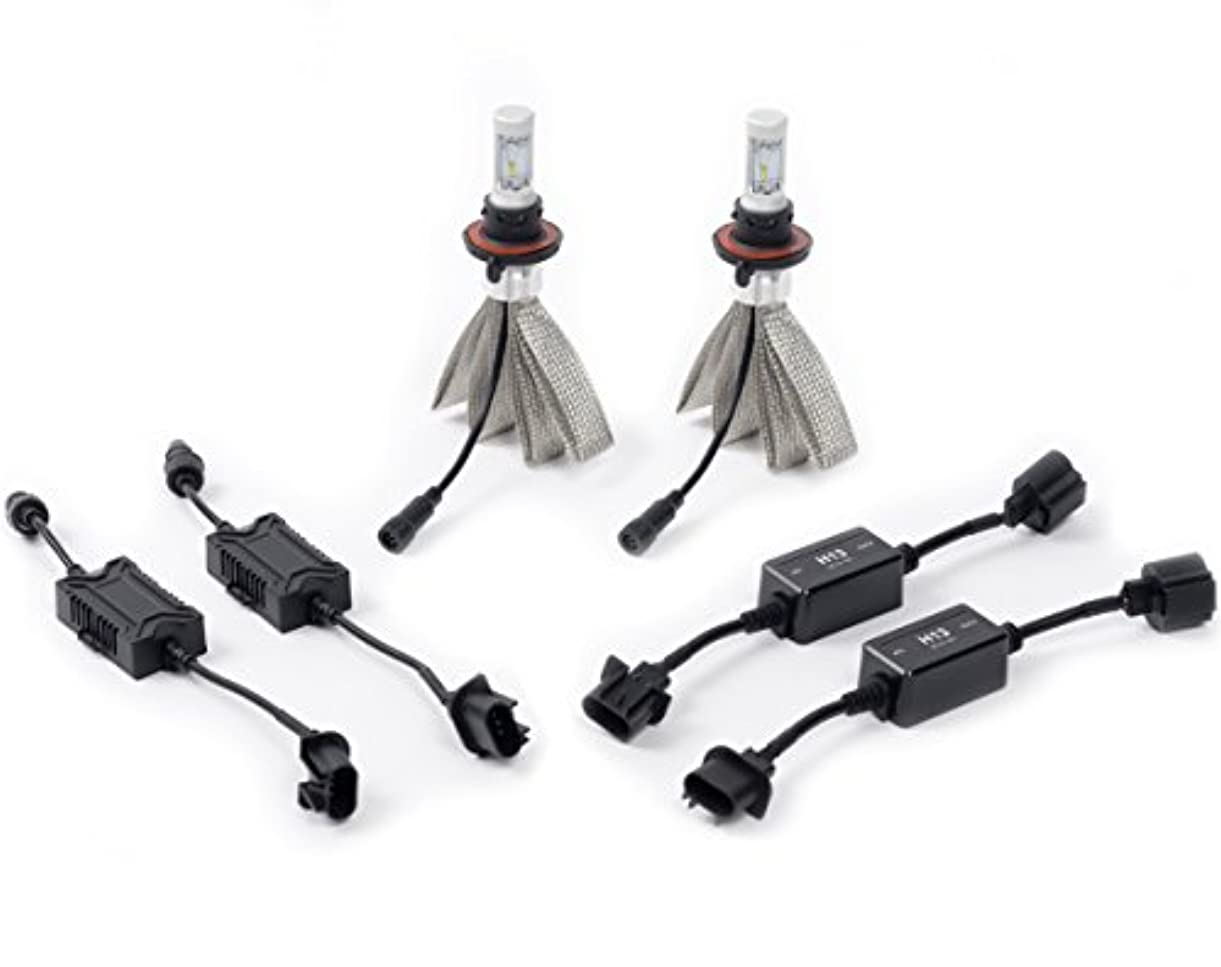 衝撃ケイ素修羅場Putco 280H13 H13 Silver-Lux LED 4000 Lumens Bulb Kit