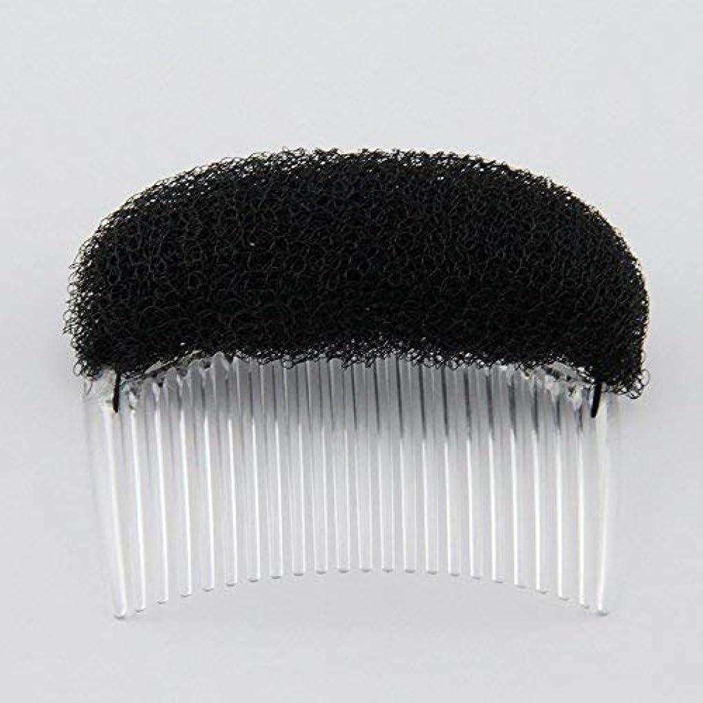 大きなスケールで見ると恐怖海賊1PC Charming BUMP IT UP Volume Inserts Do Beehive hair styler Insert Tool Hair Comb Black/Brown colors for choose...