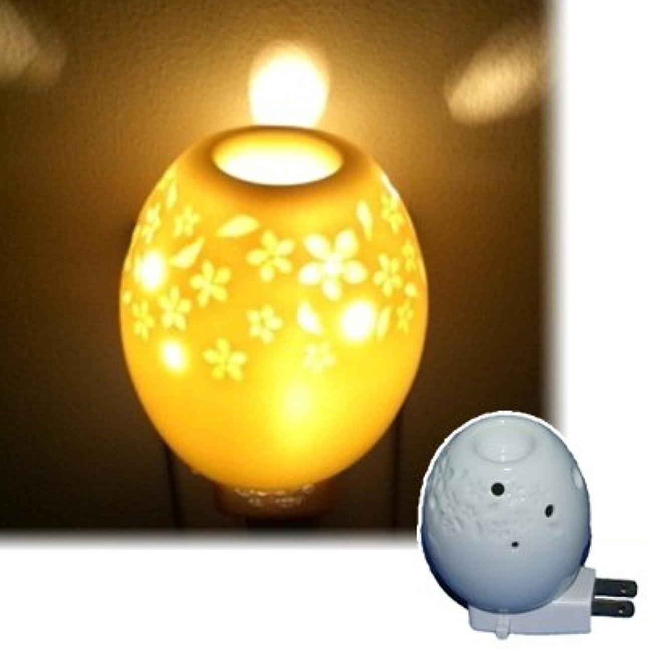 柔らかいクリープメダリストアロマオールナイト オーバル 生活の木 アロマランプ(電気式芳香器)