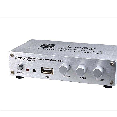 Eaglerich本物Lepai LP-A2 + 12VのUSB MP3カードハイファイステレオアンプデジタルパワーアンプ15W * 2オーディオアンプ付きスピーカー保護