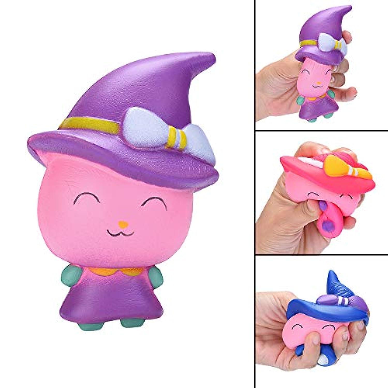 Dirance Witch マジックガール スクイーズ スクイーズ おもちゃ かわいい モチ 香り プライム 低反発 ストレス解消 おもちゃ F パープル DR