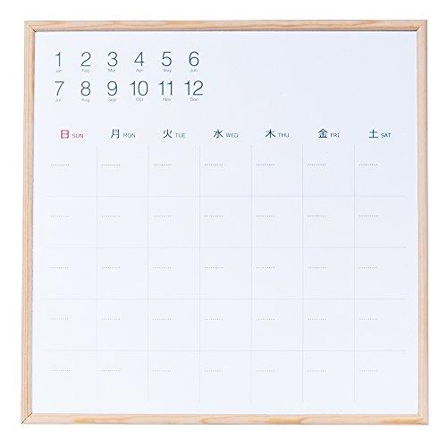 ナカバヤシ ウッドずっとカレンダー ホワイトボードカレンダー 34×34cm CLBM-3434