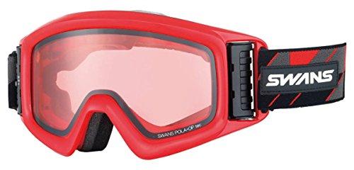 【国産ブランド】SWANS(スワンズ) スキー スノーボード ゴーグル 眼鏡使用可 ファン付 偏光レンズ ヘリ HELI-PDTBS-N GLR グロスレッド