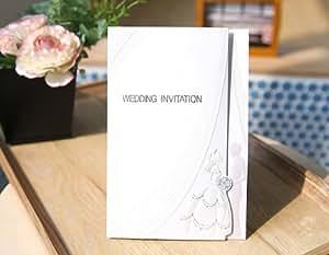 結婚式(ウエディング) 手作り招待状 ペーパーアイテム 10枚セット 【イノセント】 AMOLEAF