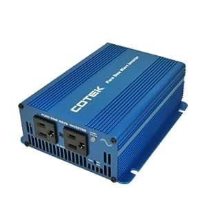 COTEK(コーテック) 正弦波インバーター 出力350W/24V 周波数50/60Hz 歪み率3%以下 SKシリーズ SK350-124