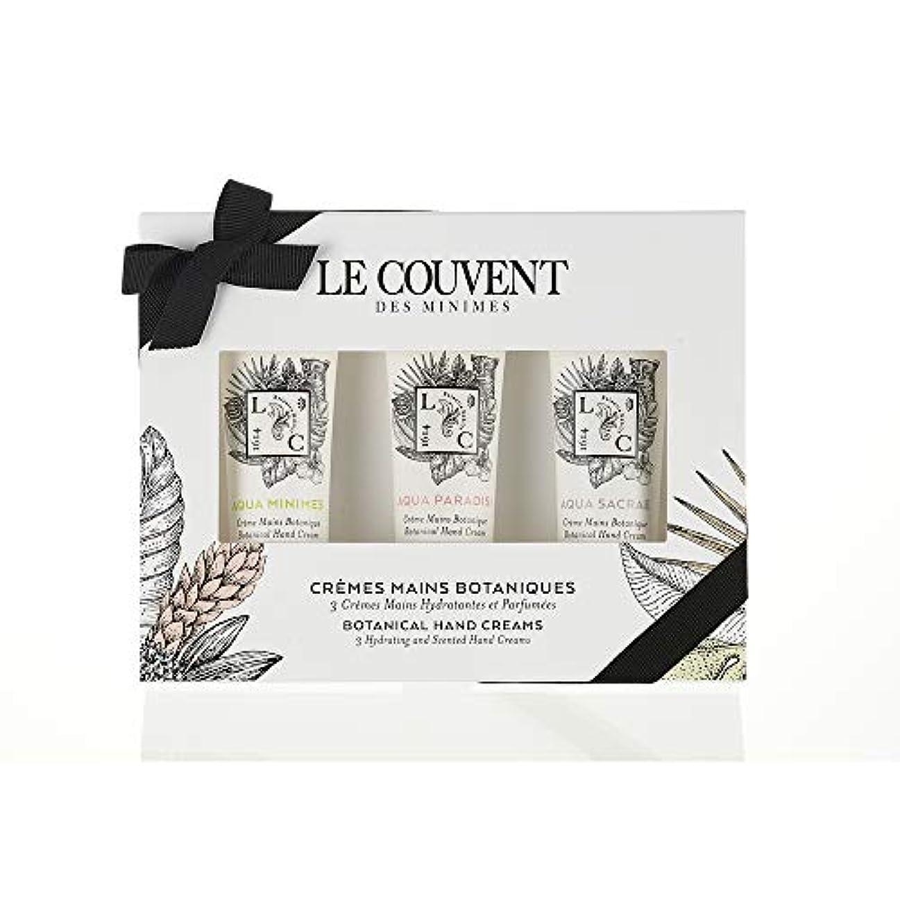 作家ガロン革命的クヴォン?デ?ミニム(Le Couvent des Minimes) ボタニカル ハンドクリームセット アクアミニム ハンドクリーム、アクアパラディシ ハンドクリーム、アクアサクラエ ハンドクリーム 各30mL