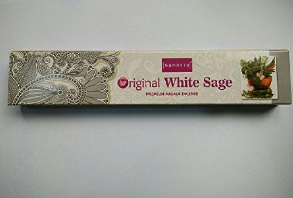 落胆した南東花嫁Nandita元ホワイトセージIncense Sticks – 12 x 15 gボックス