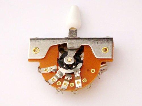 【国産】 5WAYレバースイッチ オープンタイプ ホワイトノブ LSW-DM5-WH