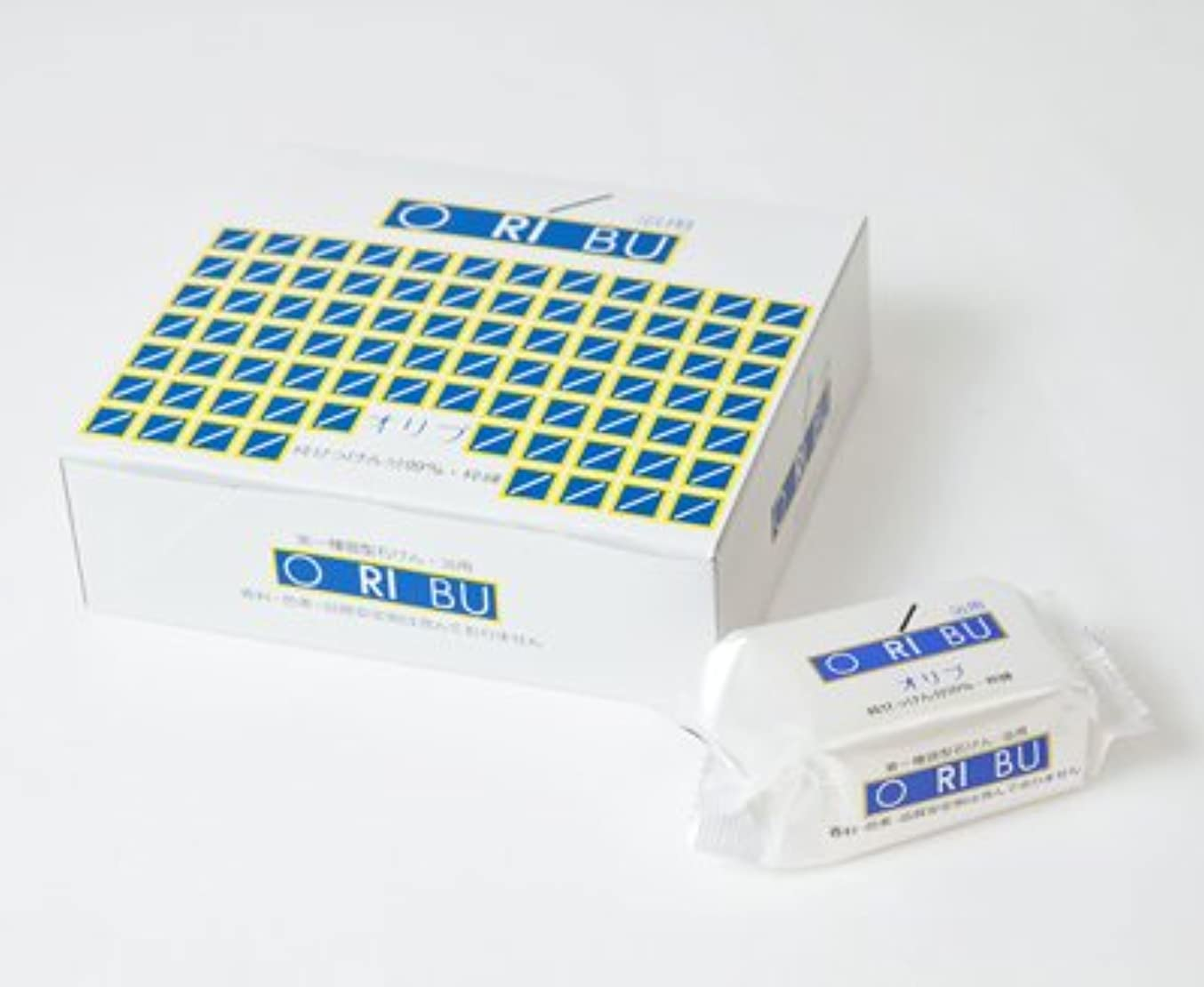 暁石鹸 ORIBU オリブ浴用石けん 1箱 (110g×10個入) 泡立てネット付き