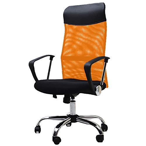 オーエスジェイ(OSJ) メッシュオフィスチェア   上下左右可動式 ハイバック (MY)(オレンジ)  B00CV2I3KE 1枚目