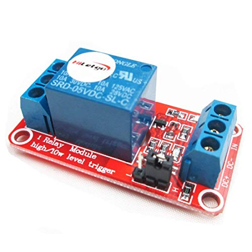 HiLetgo® 2個セット 1チャンネルリレーモジュール 5V 高低レベル トリガー [並行輸入品]