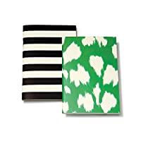 kate spade new york Notebook Set - Black Stripe/Painterly Cheetah (Ikat) Green