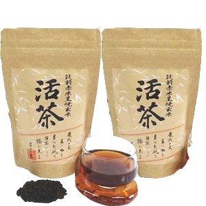 健将ライフ 黒焼き赤米玄米茶 活茶 2個セット