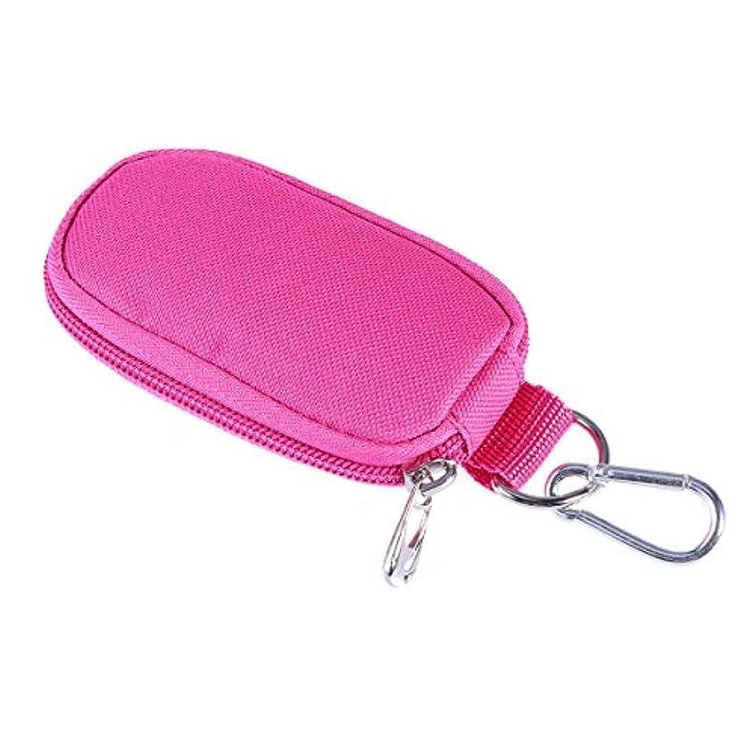 Healifty エッセンシャルオイルケースポータブルハンドルバッグは旅行のための2mlを握ります(ローズレッド)