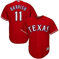 Outerstuff Yu Darvish MLB Majestic Texas RangersクールベースAlt Red Jersey Youth (S - XL)