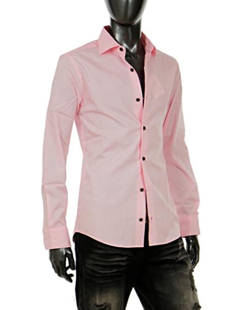 いっぱいコーラスイサカシャツ メンズ カラーシャツ カジュアル 長袖シャツ 綿100% 日本製 キレイめ ちょいワル G300426-02HG ピンク M