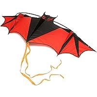 Flying Kites Huge Bat Kite 190 cmアウトドア楽しいスポーツおもちゃCan Fly steadily breeze.て簡単と便利なレイクグリーン最適な用途を開く領域で