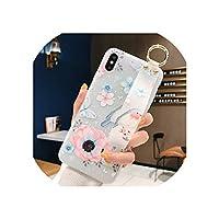 フラワーソフトTPUリストストラップケースfor iPhone 7 8 6 6 sプラス11プロマックスX XsマックスXRリリーフ花電話ホルダーケースカバー,for iPhone 7plus,IK21-20WDFBird