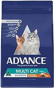 Advance Multi Cat Chicken & Salmon 3kg Cat Dry Food