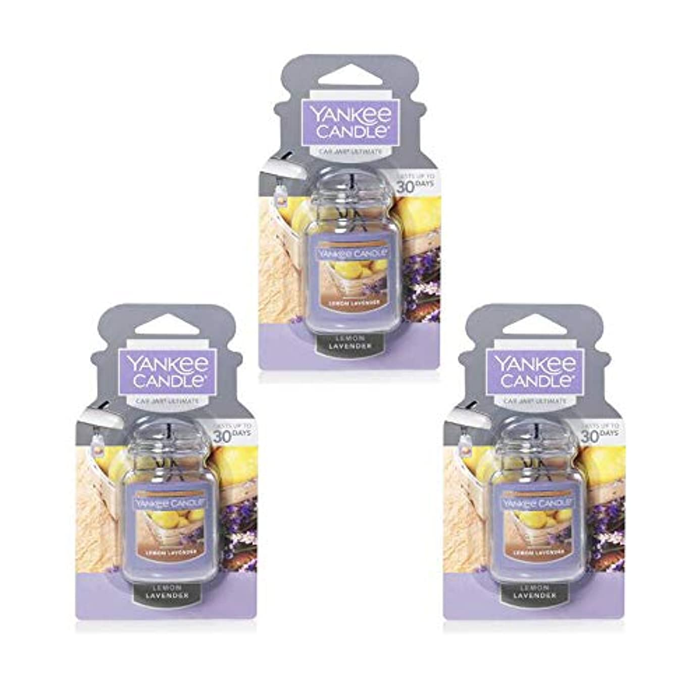 くつろぐの面では囲むYankee Candle 3パック レモン ラベンダー カージャー アルティメット