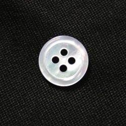 白蝶貝ボタン 10mm[30個セット] 天然貝ワイシャツボタンに
