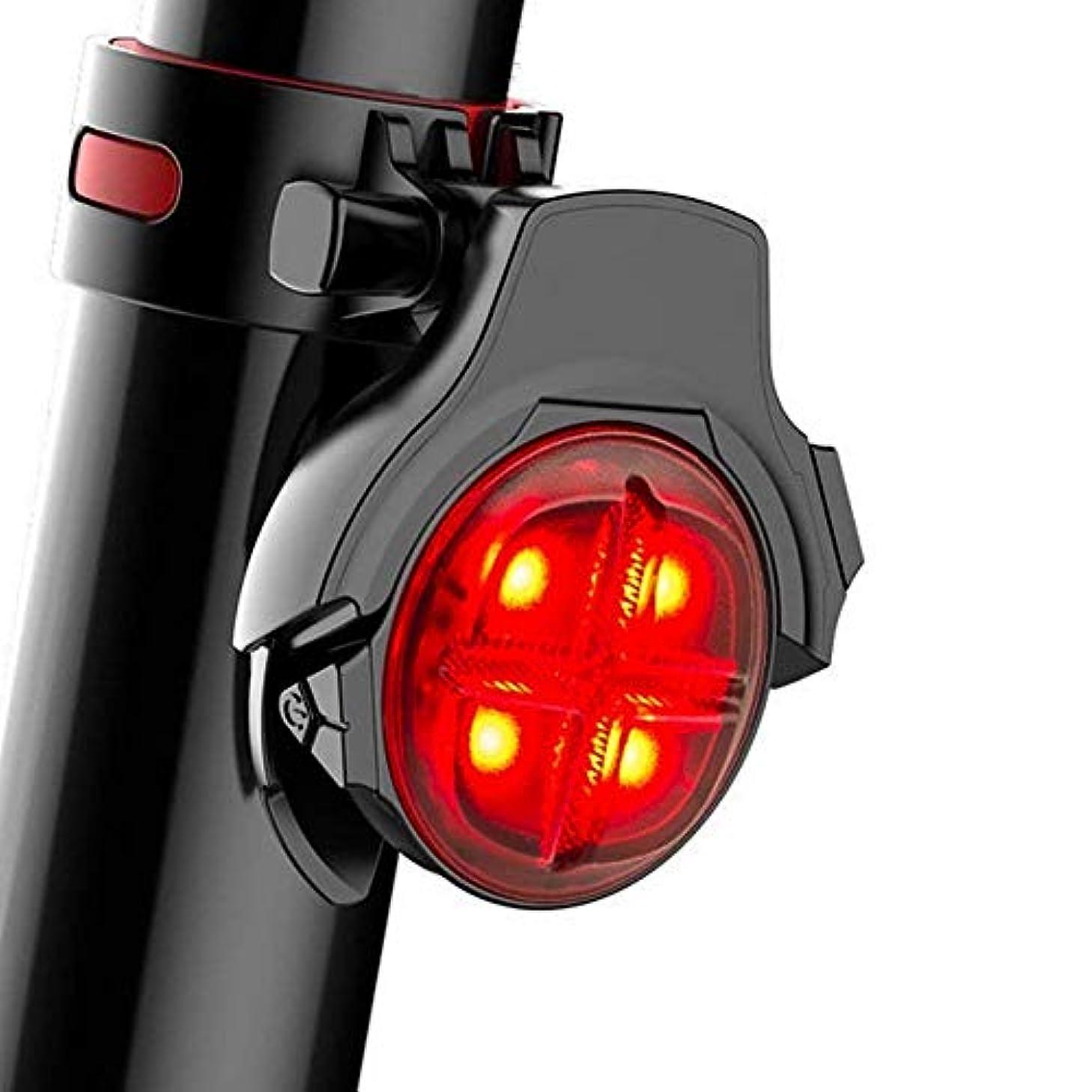 フェロー諸島周囲生産的後部ライトは再充電可能なUSBをつけます - 自転車の尾ライト強力な5つの照明モード、LEDの自転車の後部ライトレッドテールバックバックサイクリングのために簡単に安全IPX8防水
