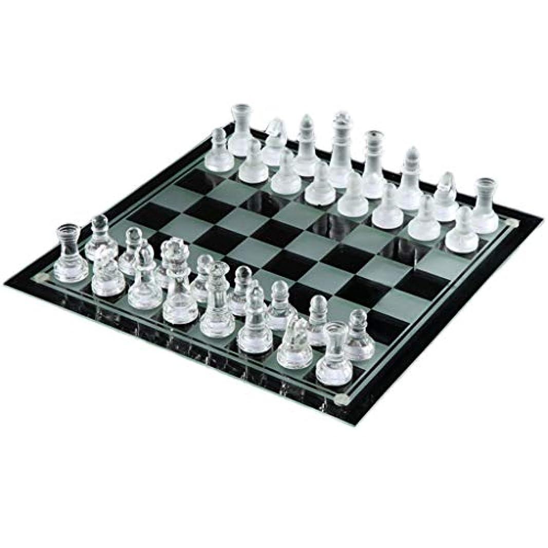 YC electronics 高品質チェス ラグジュアリー エレガント K9 クリスタルガラス チェス レスリング パッケージ チェスゲーム 国際チェッカー チェスセット ボード チェスゲーム 手作り 35*35cm クリア 12362