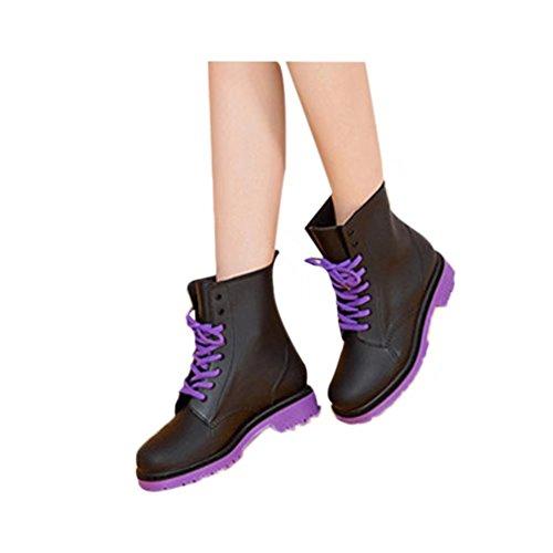 only J レインブーツ レディース 雨靴 ショート丈 レインシューズ ミドル丈 レースアップ 長靴 美脚 シンプル おしゃれ オシャレ ロングブーツ/ショートブーツ/スタイリッシュ 大きいサイズ ジョッキーブー