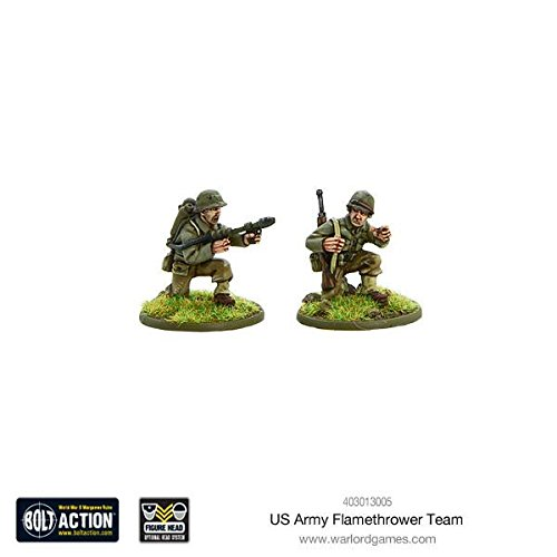 Warlord Games、US Army Flamethrowerチーム、ボルトアクションWargamingミニチュア