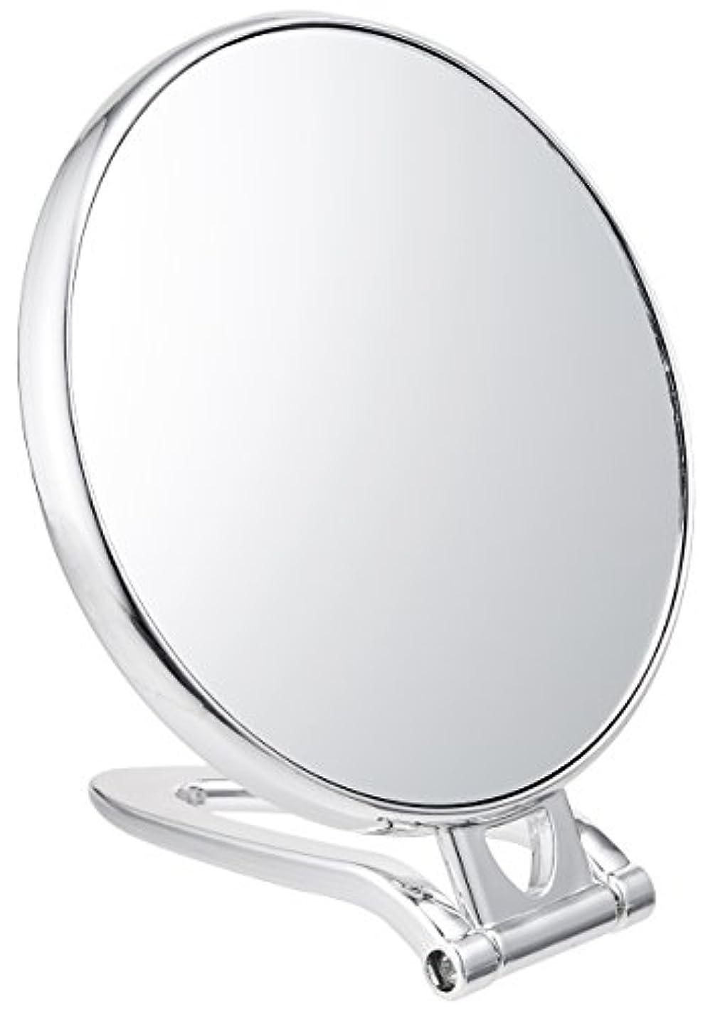 取り付け活力ぬいぐるみ拡大鏡付スタンドミラー(約2倍)シルバー