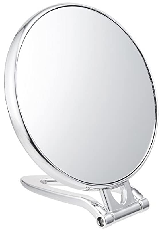 二子容赦ない拡大鏡付スタンドミラー(約2倍)シルバー