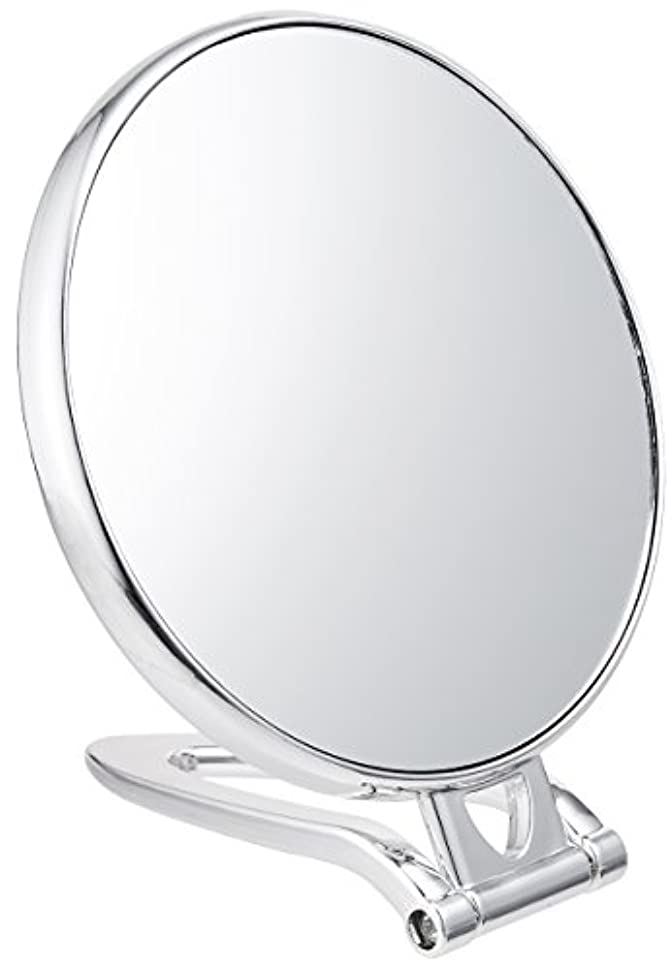 観光生理外観拡大鏡付スタンドミラー(約2倍)シルバー