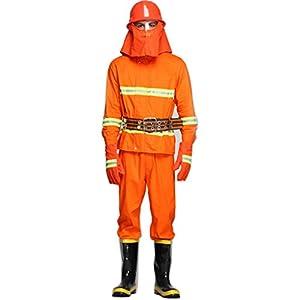 [Placck安全] 防護服 耐火服 消防スーツ 耐火/防水/耐熱/難燃性 消防設備 (180-27cm)